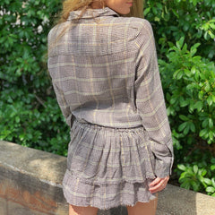Glenn Plaid Ruffle Mini Dress