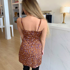 Purple Leopard Wrap Dress