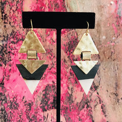 Triple Triangle Earring