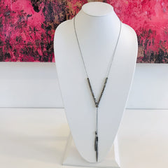 Spikes & Cubes Y Necklace