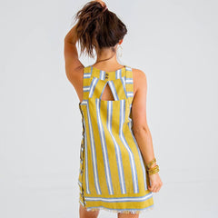 Linen Mustard Dress from Karlie at Charm Boutique in Gulf Shores, Alabama