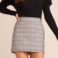 Everything Nice Plaid Skirt from BB Dakota at Charm Boutique in Gulf Shores