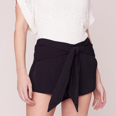 Tie the Knot Black Shorts