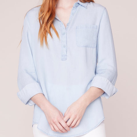 Wash My Worries Away Chambray Blouse