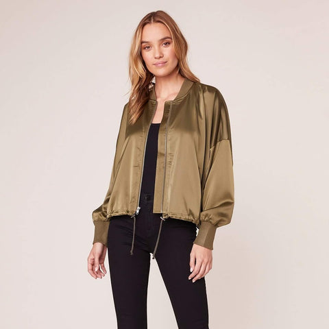 On Duty Satin Bomber Jacket