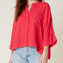 Top Story Hibiscus Blouse