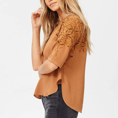 Give Thanks Embroidered Blouse