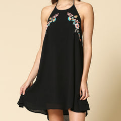 Neon Embroidered Vacay Dress from By Together at Charm Boutique