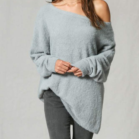 Cozy in Cashmere Teal Sweater