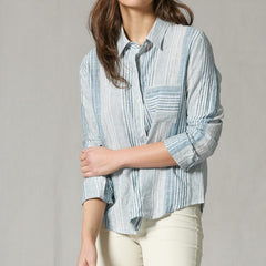 Linen Island Stripe Blouse from By Together at Charm Boutique in Gulf Shores, Alabama