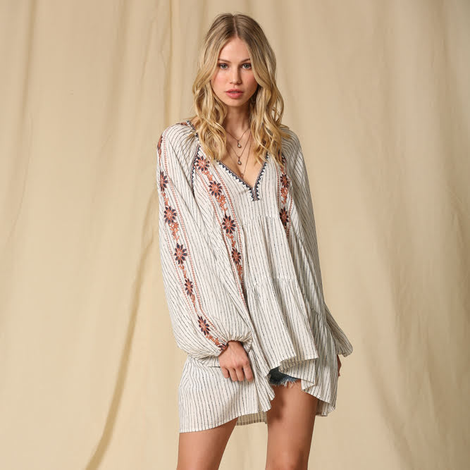 Aubie Embroidered Tunic