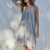 Grey Print Cami Dress