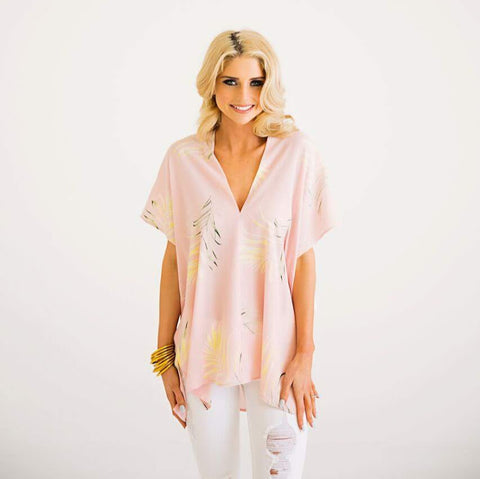 Pink Palm Leaf Tunic