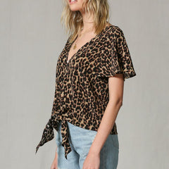 Livin' Wild Tie Blouse from By Together at Charm Boutique