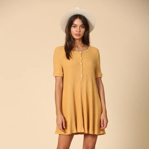 Cotton Fields Mustard Dress