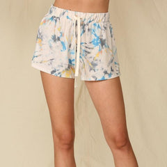 Tie Dye Blue Lounge Shorts