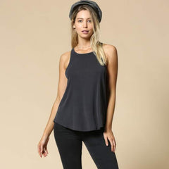 Lounge Ribbed Tank from By Together at Charm Boutique in Gulf Shores