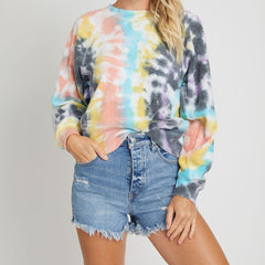 Tie Dye Reverse Fleece Lounge Top
