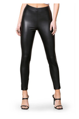Tough As Nails Black Faux Leather Legging