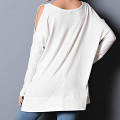 Cozy Cold Shoulder Top by Wishlist at Charm Boutique in Gulf Shores