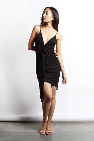 Aria Black Wrap Dress