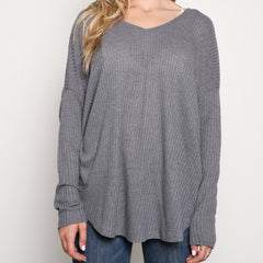 Waffles in Bed Charcoal Knit