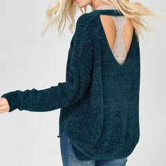 Emerald Choker Sweater