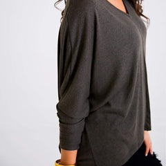 Olive Dolman Knit Top