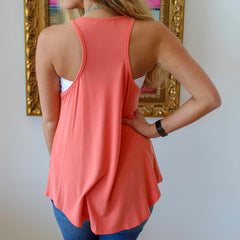 High Neck Racer Back Tank by Caramela at Charm Boutique in Gulf Shores, Alabama