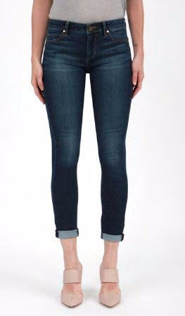 Karen Skinny Crop Jean in Camino Wash at Charm Boutique