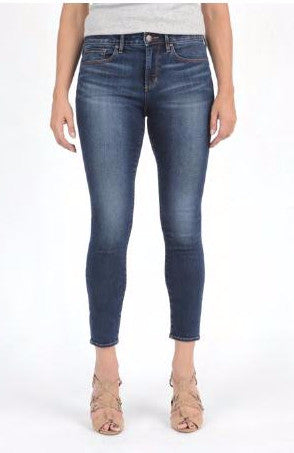 Christina Skinny Crop in Caine Wash