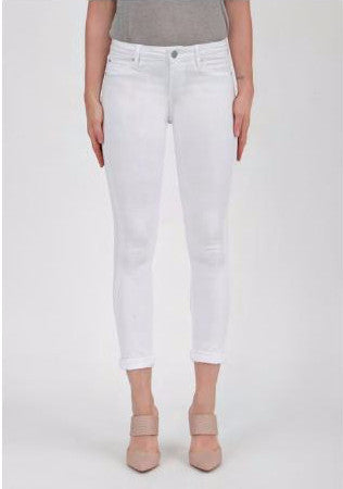 Karen Skinny Crop in Clear White at Charm Boutique