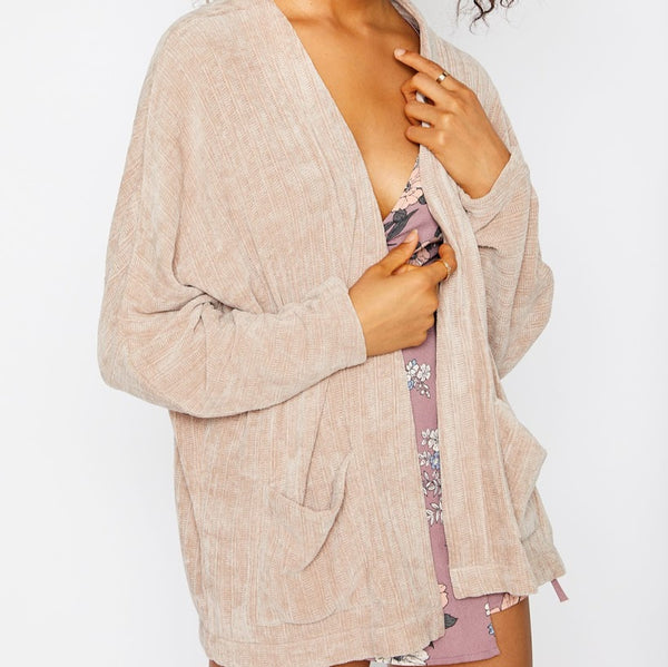 Baby Pink Corduroy Cardigan from Sadie & Sage at Charm Boutique in Gulf Shores