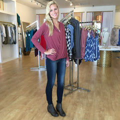 Wrap Hood Top by Karlie at Charm Boutique in Gulf Shores