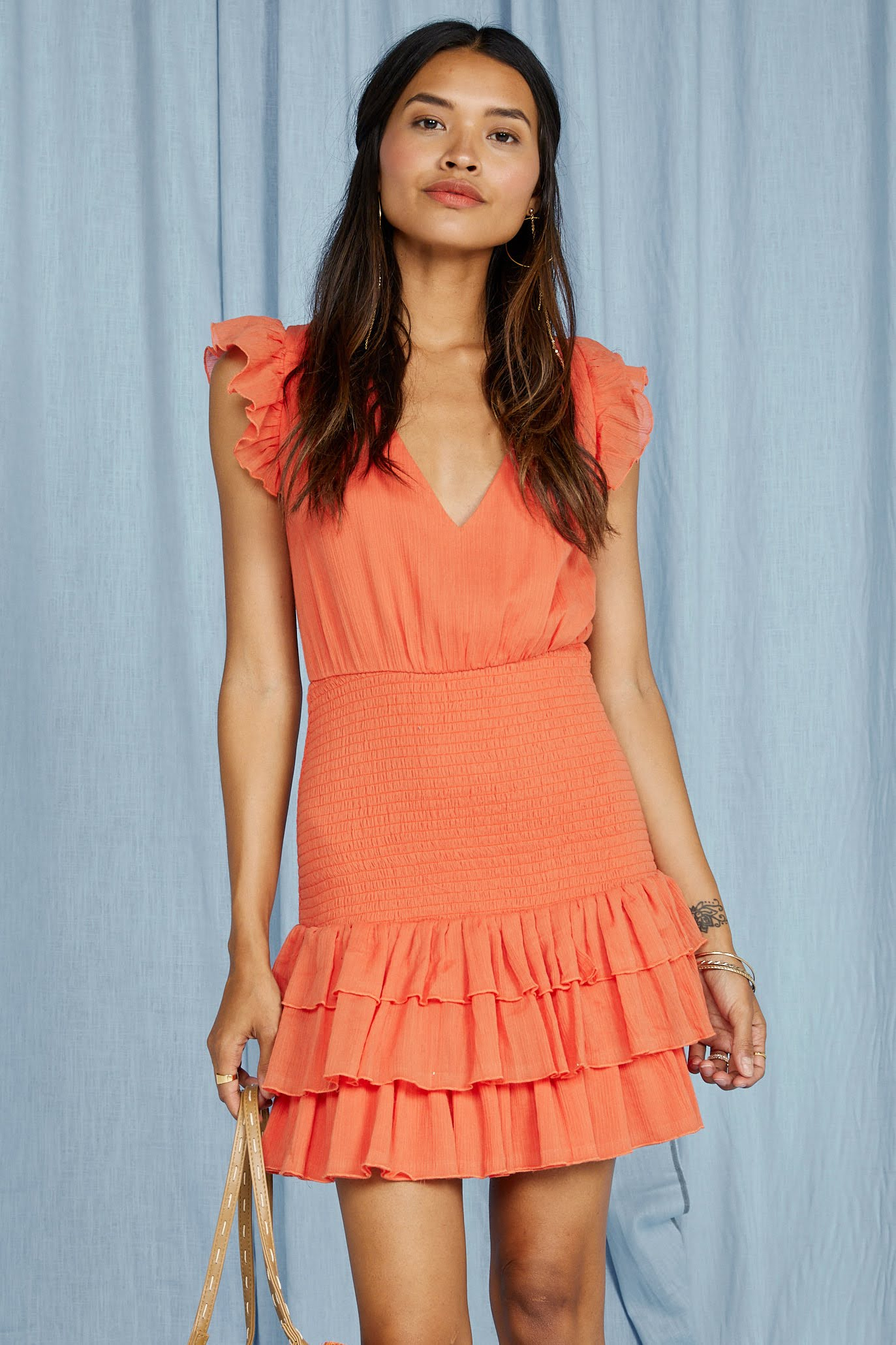 Loewy Coral Mini Dress