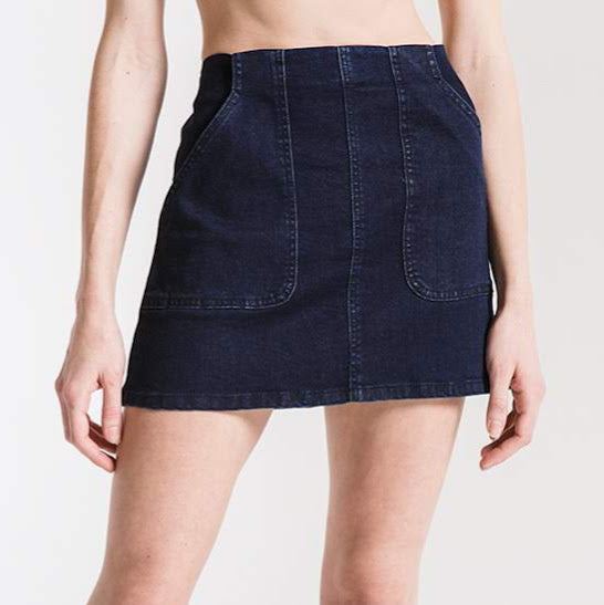 Elkie Dark Indigo Mini Skirt