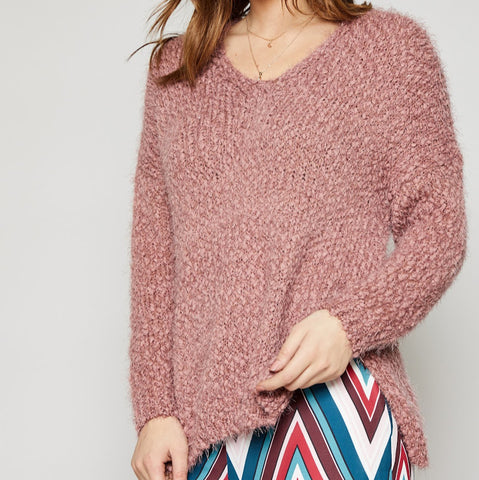Keep Me Cozy Mauve Sweater