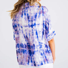 Purple Tie Dye Blouse