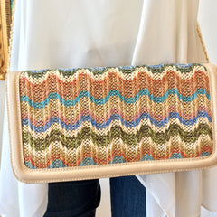 Beach Waves Clutch at Charm Boutique in Gulf Shores