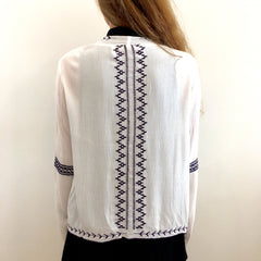 Juniper Ivory Embroidered Cardigan at Charm Boutique