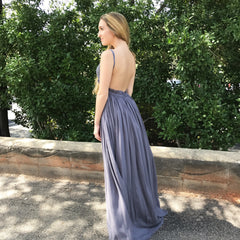 Midnight Crochet Backless Maxi Dress at Charm Boutique
