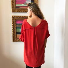 Rust Koshibo V-Neck Top by Caramela at Charm Boutique