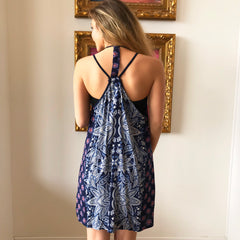 Strap Racer Back Print Dress by Angie at Charm Boutique in Gulf Shores