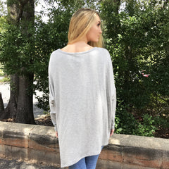 Long Sleeve Asymmetrical Top by Wishlist at Charm Boutique
