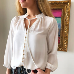 The MJ Button Blouse