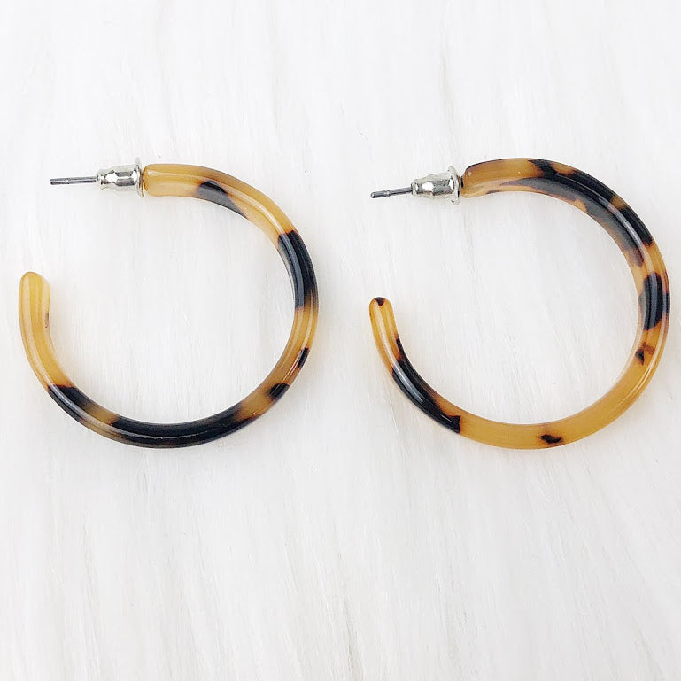 Acrylic Hoop Earrings