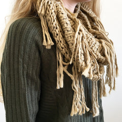 Cozy Fringe Infinity Scarf at Charm Boutique