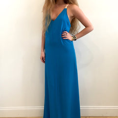 Dahlia Turquoise Maxi Dress at Charm Boutique