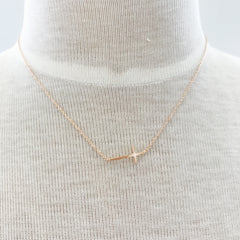 Dainty Side Cross Necklace at Charm Boutique