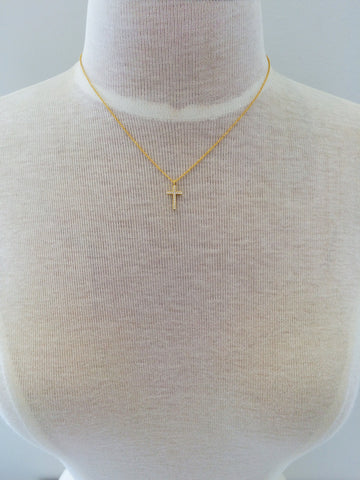 Crystal Paved Cross Necklace